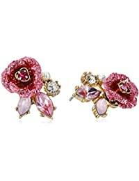 """""""Glitter Rose"""" Mismatch Stud Earrings"""