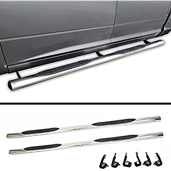 Galaxy Auto 4 Oval Straight for 2010-18 Dodge Ram 1500//2500//3500 Crew Cab Black Side Steps Nerf Bars Running Boards