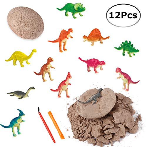 - Dino Eggs Excavation Set of 12 Dinosaurs Fossil Dig Up Kit for Bday Party Favors Archaeology Science STEM Gift (Dinosaur Dig Kit)