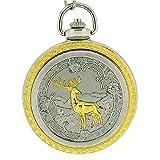 Boxx Deer Jumbo Size Pocket Watch on 12 Inch Chain Boxx82
