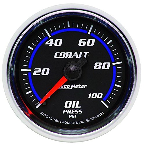 (Autometer Cobalt 52mm 100 PSI Mechanical Oil Pressure Gauge (am6121))