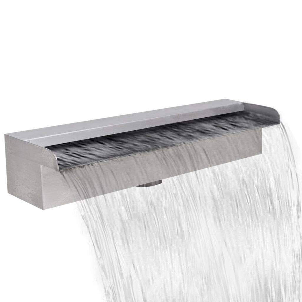 JBDSupply Rectangular Waterfall Pool Fountain Stainless Steel 17.7inch (41666)