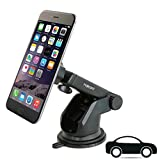 Car Mount for Dashboard or Windshield Car Phone Mount Holder for iPhone X 8 Plus 7 6s SE Samsung Galaxy S9 S8 Edge S7 S6 Note 8 & all Smartphone