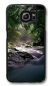 VUTTOO Rugged Samsung Galaxy S6 Edge Case, Flowing Forest River Hard Case for Samsung Galaxy S6 Edge PC Black