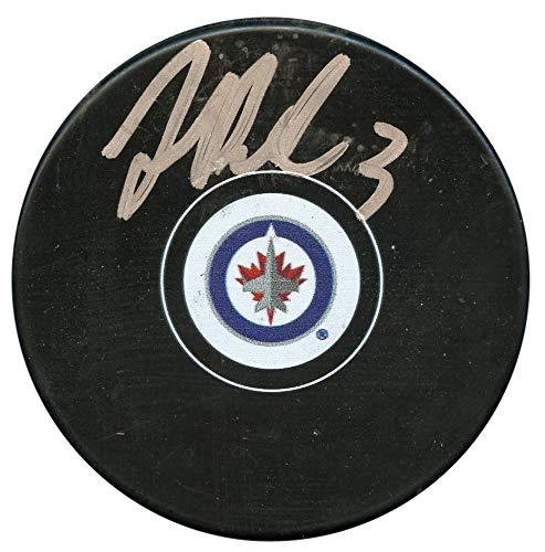 Tucker Poolman Winnipeg Jets Autographed Signed Hockey Puck - JSA Authentic # V33766 - Jets Signed Winnipeg