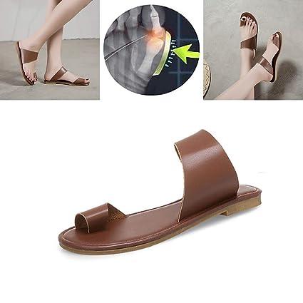 W&TT Zapatos de Mujer de Viaje de Playa para el Verano Sandalias correctoras de Hueso Grande