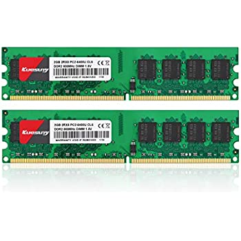 8GB kit 4X2GB 2Rx8 PC2-6400E DDR2-800 CL6 240PIN ECC Unbuffered UDIMM RAM