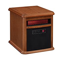 This portable electric infrared quartz heater comes fully-assembled and ready to heat! It is ideal for any room where you need supplemental heat for up to 1,000 square feet. The infrared heat helps to maintain the natural humidity within the ...