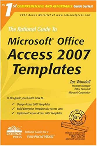 The rational guide to microsoft office access 2007 templates the rational guide to microsoft office access 2007 templates rational guides zac woodall 9781932577389 amazon books maxwellsz