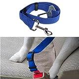 OutTop Dog Dog Vehicle Restraint Adjustable Pet Dog Cat Car Seat Belt Safety Leads Vehicle Seatbelt Harness (Blue) For Sale