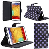 i-Blason Samsung Galaxy Note 3 Note III N9000 Smart Phone Leather Slim Book Case Cover with Stand Feature (Dalmatian Black)