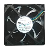 Everflow 80x80x25mm Dual Ball Bearing PWM Fan