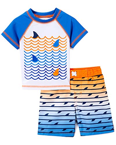 Freestyle Revolution Baby Boys Waves for Days Rash Guard Top and Shorts Set, Multi, 24M