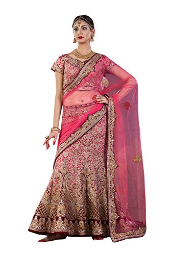 IWS Indian Women Designer Wedding pink Lehenga Choli K-4571-40058
