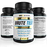 BEST NATURAL TESTOSTERONE BOOSTER- 4 WEEK CYCLE- MADE IN USA- PROVEN SAFE and EFFECTIVE- Brute Test offers Natural Strength, Endurance, Sexual Libido, and Rapid Fat Loss (60 caplets)