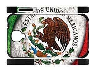 Mexican Mexico Flag Samsung Galaxy S4 I9500 Case Cover Dual-Protective Screw Wood