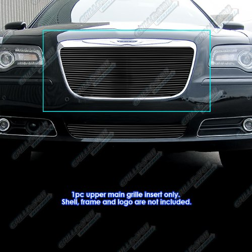 (APS Fits 2011-2014 Chrysler 300/300C Black Billet Grille Grill Insert)