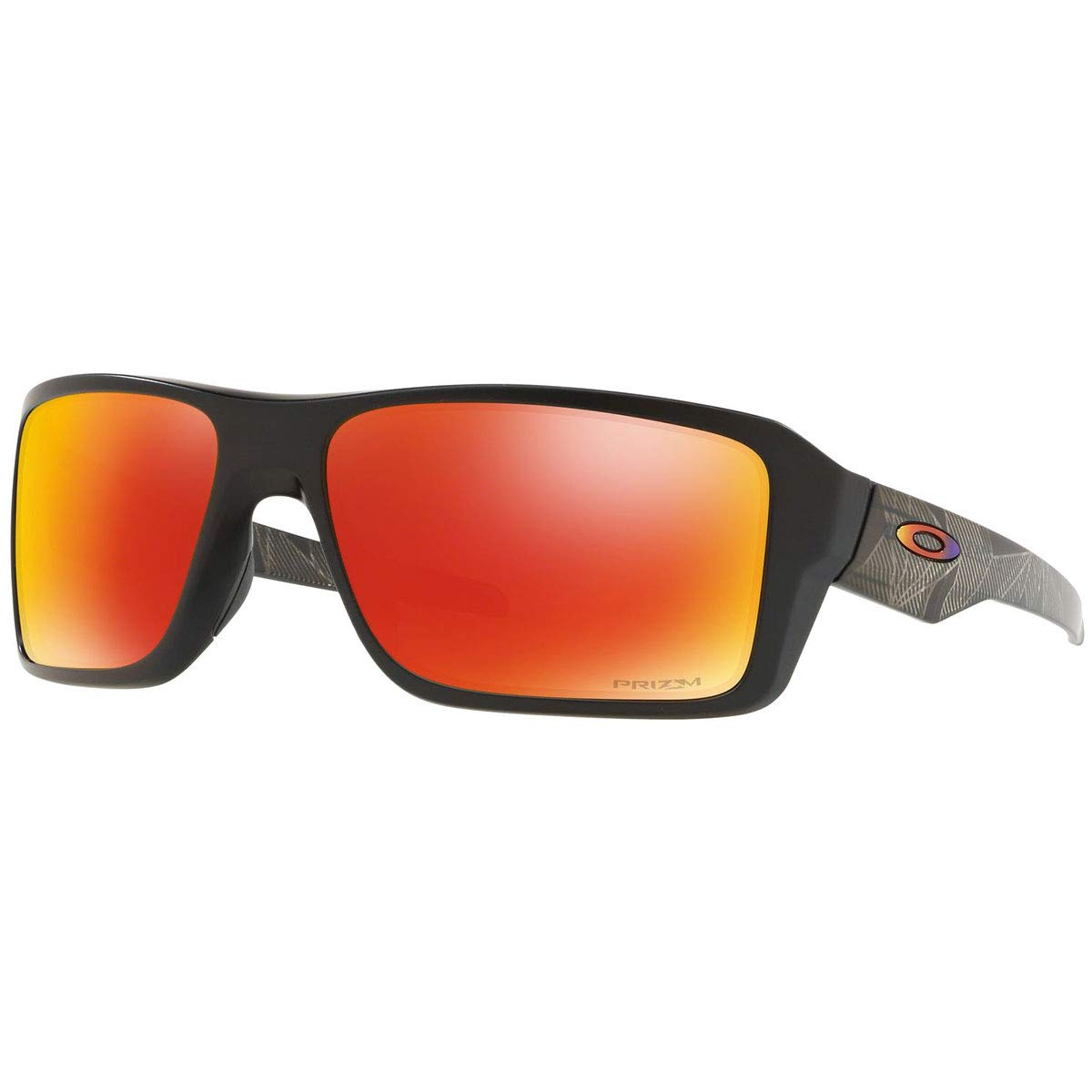 Oakley Men's Double Edge Polarized Iridium Rectangular Sunglasses MATTE BLACK PRIZMATIC 66.0 mm
