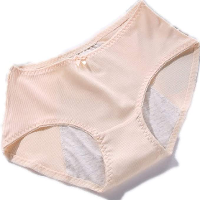 5214cc6cef2e Kuiduo Clothing Apricot Women's Physiological Menstrual Leak Prevention  Comfort Triangle Briefs Seamless Sexy Underwear Mid Waist