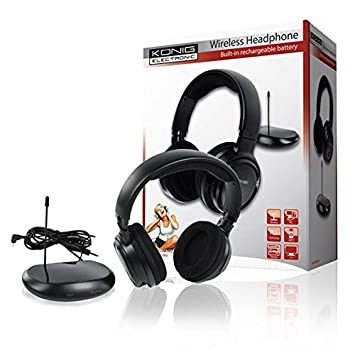 Radio Auriculares inalámbrico auriculares 80 m de alcance para televisor TV Radio PC MP3 Audio Dispositivos
