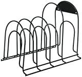 Miriga Life Heavy Duty Pot & Pan Organizer Rack Holder - Best for Kitchen and Cabinet Storage of Pots Pans Lids - Great for Cast Iron - No Assembly Required - Black