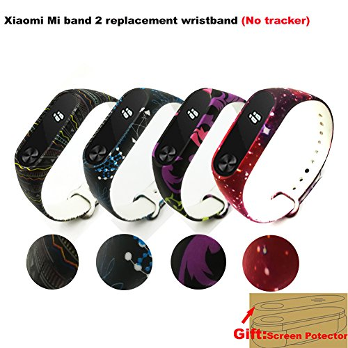 Price comparison product image Budesi Waterproof Xiaomi Mi Fitness Tracker Bracelet Accessories / Xiaomi Mi Band 2 Replacement Wristband Band Strap+Metal Buckle