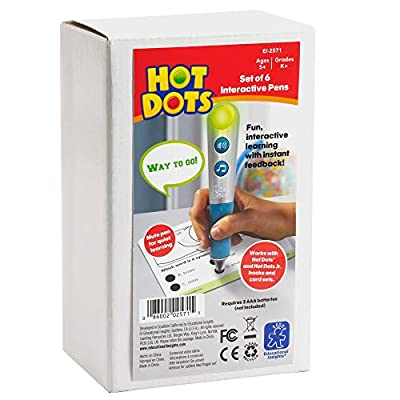 Educational Insights Hot Dots Talking Pen, Set of 6 (New Silver Color): Toys & Games