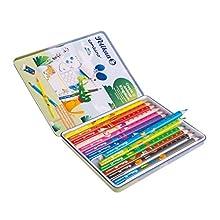 Pelikan Combino 811200 - Juego de 12 lápices de colores y 1 lápiz en estuche metálico