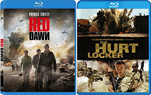Hurt Locker & Red Dawn Blu Ray 2 Pack War Movie Action Set