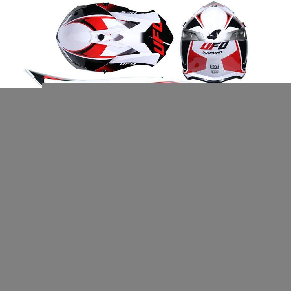 Hombres Mujeres Ligeros Motocross Cascos de Pintura de Color Pintado Exquisito Casco Adulto Resistente a la ca/ída del Confort Profesional Racing Off Road Casco 55-62cm