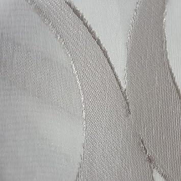 Stores Gardine Stoff Vorhang Streifen Weiß Petrol Silber