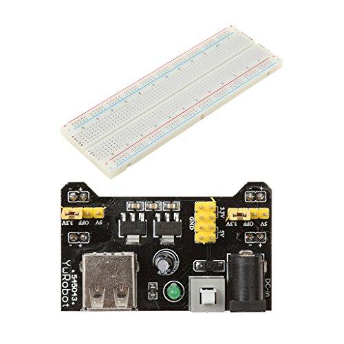 H HILABEE MB-102 830 ポイントブレッドボード 電源モジュール 65本ジャンパーワイヤー付き