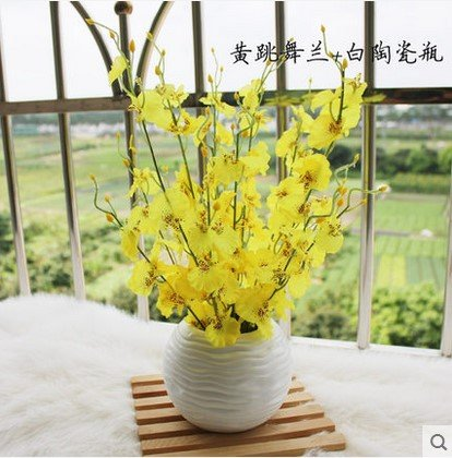 T emulación Artificial orquídea Kit sala de estar de flores de plástico flores,
