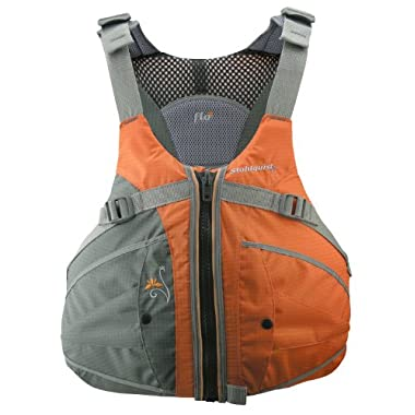 Stohlquist Women's Flo Life Jacket/Personal Floatation Device (Orange/Gray, Medium/Large)