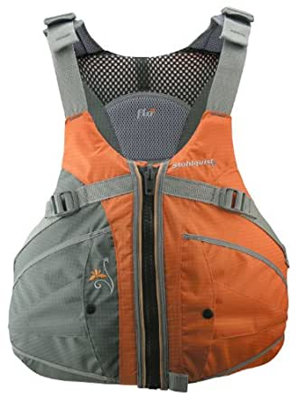 Stohlquist Women's Flo Life Jacket/Personal Floatation Device (Orange/Gray, X-Small/Small)