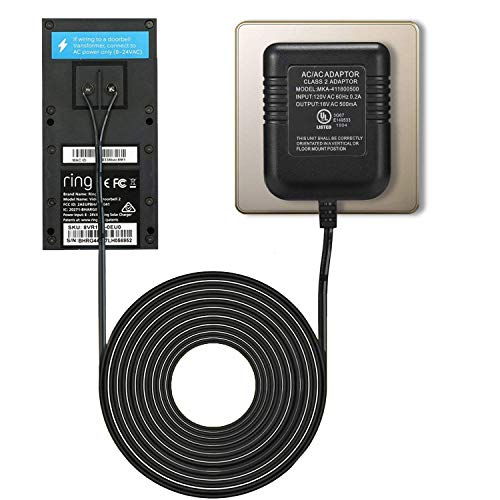 Power Adapter for RING Doorbell, UL Certificated Power Supply for RING Video Doorbell, RING Video Doorbell 2 & RING Video Doorbell Pro Battery Charger ()