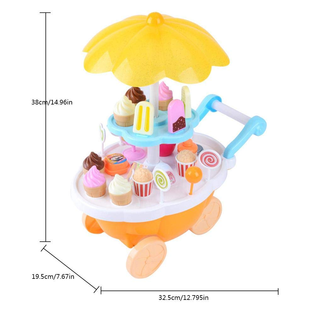 AOLVO Carrito de helado niños, 39pcs juego de juguetes de ...
