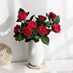 YILIYAJIA-Artificial-Rose-Flowers-with-Vase-Moisturizing-Rose-Bouquets-Bridal-Arrangement-Flower-in-Ceramic-Vase-for-Wedding-Home-Party-Decoration