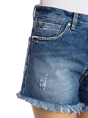 Pinko Femme CALLISTOA08ZA Bleu Coton Shorts
