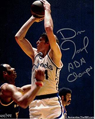 Dan Issel Autographed/Signed Kentucky Colonels 8x10 Photo ABA Champs