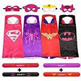 9-ecparty-4-different-superheros-cape-and-mask-with-wristbands-costumes-set-for-girl
