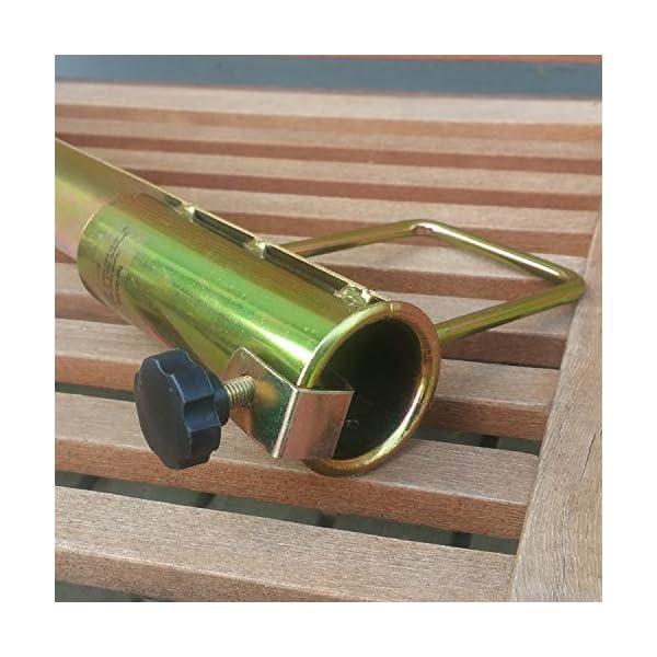 Land-Haus-Shop®, picchetto di supporto per ombrellone o stendibiancheria, da piantare nel terreno, in lamiera di acciaio… 5 spesavip