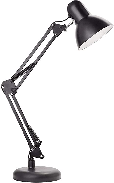 Lampada Da Tavolo Lampada Da Tavolo Da Studio A Luce Semplice Da Braccio A Braccio Lungo Lampada Da Tavolo Da Lettura Lampada Da Tavolo A Occhio Di Ferro Lampada A Led Amazon It