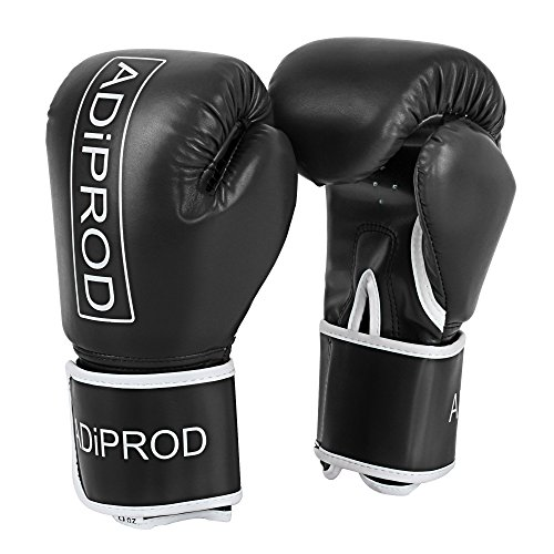 Boxing Gloves , ADiPROD 16oz 14oz 12oz 10oz 8oz Sports Essential Boxing Kickboxing Training Gloves
