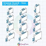 SPEEDYORDERS Protective Sneeze Guard, Clear Acrylic Plexiglass Shield For Counters, Food Screen, Transaction Window for Employers, Workers & Customers, Barrier Against Cough & Sneezing