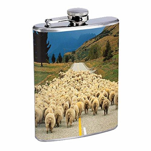 Sheep d2 8オンスステンレスフラスコFlock Hills Road Walking   B00WNQ0M52