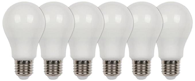 Westinghouse Pack de Bombillas LED E27, 9 W, Blanco Cálido, 6 Unidades