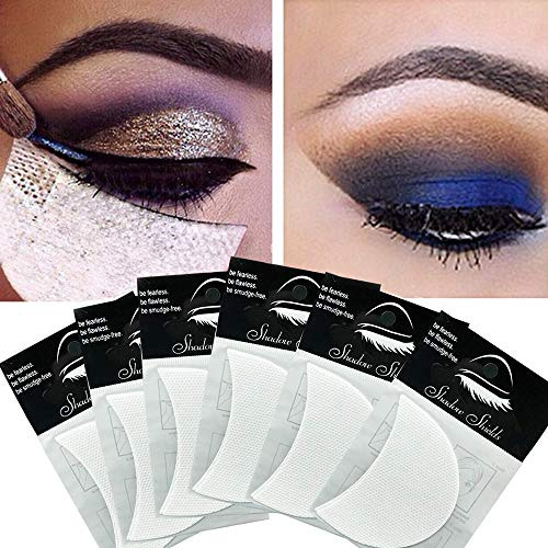 100 Pcs Eyeshadow Shields,Makeup Tape Supplies,Professional Adhesive Under Eye Crease Shields,Eyeliner Stencil Stickers…
