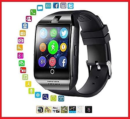 Bluetooth Smartwatch con cámara, Smart Watch Phone Touchscreen, Smart Reloj, Impermeable Reloj Inteligente con SIM Card Ranura para Android Samsung Huawei iOS Phone X 8 7 6 6S 5 Hombre Mujer