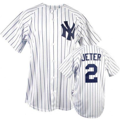 Majestic Derek Jeter MLB Home Pinstripe Replica New York Yankees Jersey - Derek Jeter Majestic Player